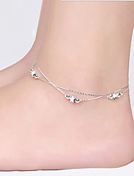 cheap -Silver Star Anklet Bracelet Body Jewelry/Leg Chain Alloy Drops Natural Handmade Fashion Silver 1pc