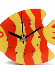 Plastic Magnet Blue Orange Clock Refrigerator Kitchen Wall Clock Fish Design Plastic Fish Refrigerator Magnet