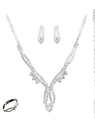 The Bride Jewelry Set Simple Fashion All-Match Claw Chain Ring Earrings Bracelet Four Set