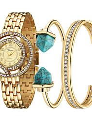 ieftine -Ceas Elegant Ceas La Modă Ceas de Mână Ceas Brățară Quartz Plin de Culoare Ștras Oțel inoxidabil BandăVintage Sclipici Heart Shape Punct