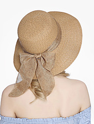 cheap -Women's Vintage Cute Straw Hat Sun Hat - Solid Colored