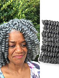 American Fashion Women HairStyle 20Bouncy Curl Ombre Kanekalon Curly Braiding Bouncy Curl Crochet SANIYA CURLS 20roots/pack 5packs make head