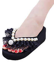 Women's Sandals Comfort PU Spring Outdoor Comfort Flat Heel White Black Purple Fuchsia Blushing Pink 4in-4 3/4in