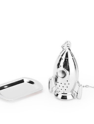 1Pc Rocket Tea Bags Stainless Steel Metallic Texture Tea Infuser