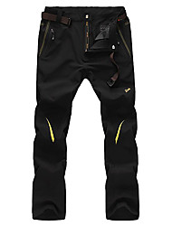 cheap -Men's Hiking Pants Outdoor Waterproof Quick Dry Windproof Wearable Breathable Lightweight Materials Fleece Tights Bottoms Exercise &