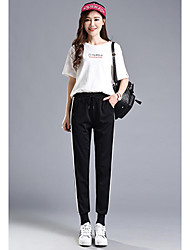 Подписать корейский иностранных аромат ультра-белый бампер гарем брюки случайные брюки женский колготки дикий прилив ребенка