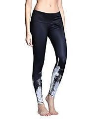 Mujer Pantalones ajustados de running Leggings de gimnasio Secado rápido Transpirable Medias/Mallas Largas Prendas de abajo Yoga Pilates