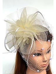 abordables -Tulle Plume Filet Fascinators Chapeaux Voiles Birdcage 1 Mariage Occasion spéciale Casque
