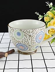 Farbig Trinkbecher, 330 ml Wiederverwendbar Porcelana Tee Kaffee Teetassen Kaffeetassen