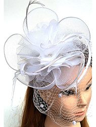 cheap -Tulle Feather Net Fascinators Hats Birdcage Veils Headpiece