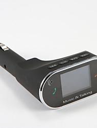 Carregador carro bluetooth carro kit mãos livres fm transmissor viva-voz receptor multifunções sem fio carro mp3 player