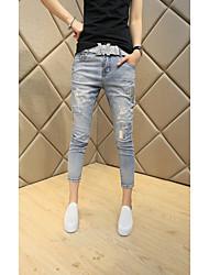 Printemps et été, les femmes coréennes portent des lettres blanches marées sensiblement minces pieds harem pantalons féminin neuf points