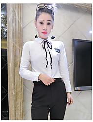 Really making 2017 spring new Korean Fan Japanese women's long sleeve shirt Slim minimalist backing