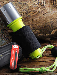 preiswerte -LED Taschenlampen Hand Taschenlampen LED 1600 Lumen 3 Modus Cree XM-L T6 18650Camping / Wandern / Erkundungen Für den täglichen Einsatz