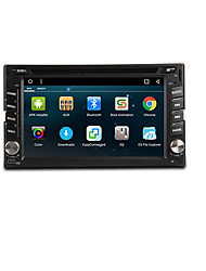 cheap -6.2 inch 2 DIN Android6.0 In-Dash Car DVD Player Built-in Bluetooth / GPS / RDS for Support / 3D Interface / Steering Wheel Control / WiFi / Subwoofer Output / Games