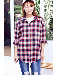 Women's Daily Wear Classic & Timeless Spring Shirt,Others Shirt Collar Long Sleeves N/A Medium