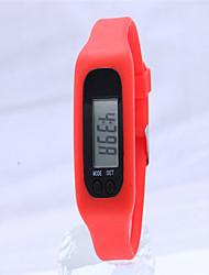 Недорогие -Жен. Модные часы Цифровой силиконовый Группа Повседневная Синий Красный Фиолетовый