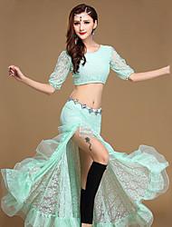 cheap -Shall We Belly Dance Outfits Women Performance Modal Ruffles Top Skirt