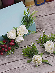 Flax Fabric Headpiece-Wedding Special Occasion Casual Outdoor Flowers 3 Pieces