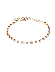 Per donna Bracciali a catena e maglie Strass Di tendenza Strass Circolare Oro Argento Gioielli PerFeste Occasioni speciali Regali di