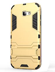abordables -Funda Para Samsung Galaxy A5(2017) A3(2017) Antigolpes con Soporte Funda Trasera Armadura Dura ordenador personal para A3 (2017) A5