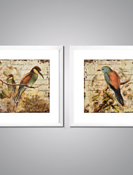 Framed Canvas Print Abstract Animal Modern,Two Panels Canvas Square Print Wall Decor For Home Decoration