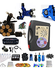 cheap -BaseKey Tattoo Machine Professional Tattoo Kit - 3 pcs Tattoo Machines LED power supply Case Included 2 rotary machine liner & shader / 1 alloy machine liner & shader