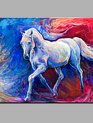Hand-Painted Abstract  Running The Horse Oil painting Ready To Hang Modern One Panels Canvas Oil Painting For Home Decoration
