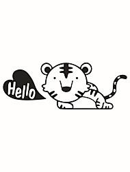 abordables -Animaux Mode Bande dessinée Stickers muraux Autocollants avion Autocollants muraux décoratifs Autocollants d'interrupteurs, Vinyle