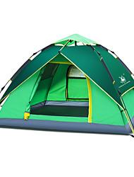 GAZELLE OUTDOORS 3-4 osoby Stříška Jednoduchý Camping Tent jeden pokoj automatický stan Přenosný Odolné vůči dešti pro Kempink cestování