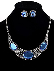 cheap -Women's Crystal Crystal Jewelry Set 1 Pair of Earrings Necklace - Personalized Euramerican Geometric Blue Necklace / Earrings For Wedding