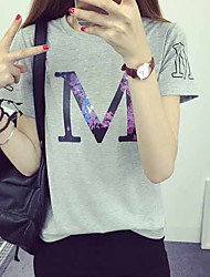 Sign 2017 summer new loose compassionate woman was thin mixed colors short sleeve shirt t-shirt short-sleeved shirt