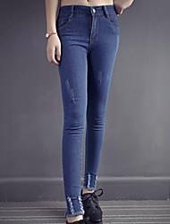 pantaloni stretti indossati jeans dei modelli primavera femminili piedi pantaloni i pantaloni elastici sottili pantaloni matita colpo vero
