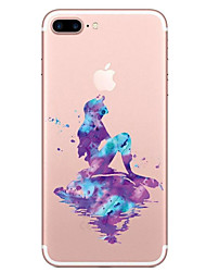economico -Per iPhone X iPhone 8 Custodie cover Transparente Fantasia/disegno Custodia posteriore Custodia Cartoni animati Morbido TPU per Apple