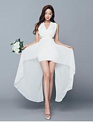 temperamento moda fina foi vestido fino versão coreana das regras vestido parágrafo sem mangas v-pescoço 2017 verão