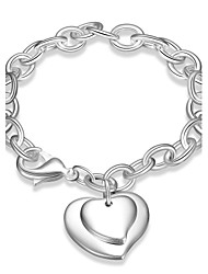 cheap -Women's Girls' Chain Bracelet Friendship Fashion Vintage Silver Plated Heart Jewelry For Wedding Party Special Occasion Anniversary
