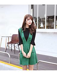знак 2017 весной новый ремень платья слова юбка была тонким из двух частей платья