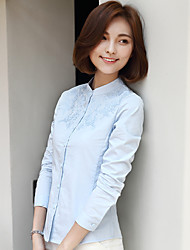 cheap -Women's Chic & Modern Shirt - Solid Color Shirt Collar