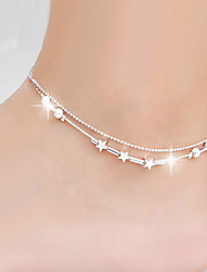 cheap -Star Leg Chain - Women's Silver Natural Handmade Fashion Star Body Jewelry For Wedding Party Special Occasion Anniversary Birthday