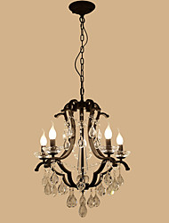 cheap -LightMyself 5 Lights Crystal Chandelier Modern/Contemporary Traditional/Classic Rustic/Lodge Tiffany Vintage Retro Lantern Drum Country Painting