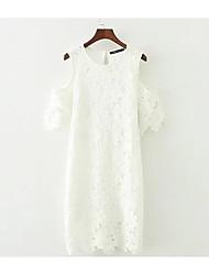 levne -Dámské Elegantní & moderní Shift Šaty - Jednobarevné, Moderní styl Nad kolena