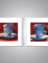 cheap -Framed Canvas Print Abstract Still Life Traditional Realism,Two Panels Canvas Square Print Wall Decor For Home Decoration