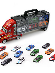 cheap -Toy Cars Model Car Truck Toys Simulation Metal Alloy Plastic Metal Alloy Metal 12 Pieces Kids Boys' Gift