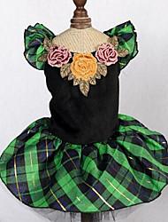 economico -Cane Vestiti Abbigliamento per cani Romantico Di tendenza Da principessa Verde Costume Per animali domestici