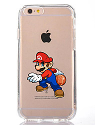 Per iPhone X iPhone 8 Custodie cover Transparente Fantasia/disegno Custodia posteriore Custodia Cartoni animati Morbido TPU per Apple