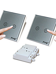 cheap -FYW Double Control Two Gang  Touch  Remote Controller Switch  No Need To Cut Wall Wiring  Can Be Pasted In Any Place