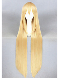 cheap -Synthetic Wig / Cosplay & Costume Wigs Straight Synthetic Hair Blonde Wig Women's Long Capless