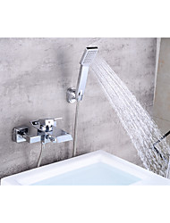 cheap -Bathtub Faucet - Contemporary Chrome Centerset Ceramic Valve