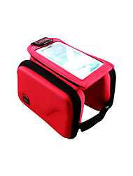Borsa da biciBag Cell Phone Marsupio triangolare da telaio bici Indossabile Multifunzione Schermo touch Marsupio da bici PolyesterBorsa