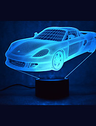 Car Touch Dimming 3D LED Night Light 7Colorful Decoration Atmosphere Lamp Novelty Lighting Light